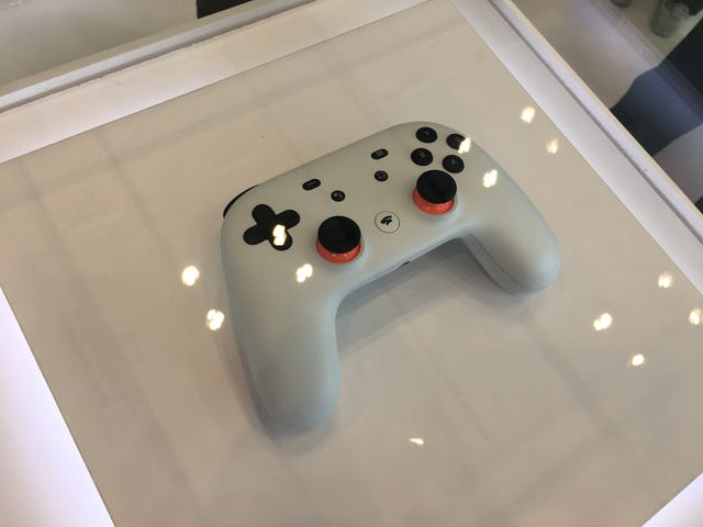 I was hoping there'd be some hands-on with the Google Stadia controller at GDC, but alas! It is simply here under glass. You can…