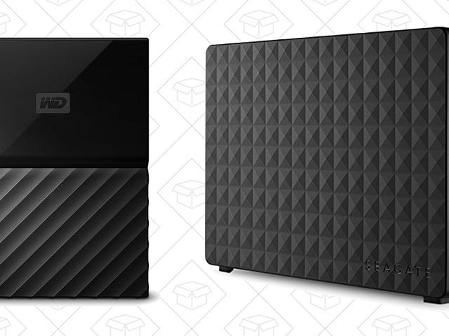 Give the Gift Of Extra Hard Drive Space With a Pair of Great Deals