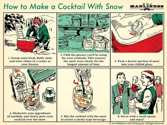 Buat Koktel Dengan Salji di Parti Percutian Anda Musim Sejuk ini