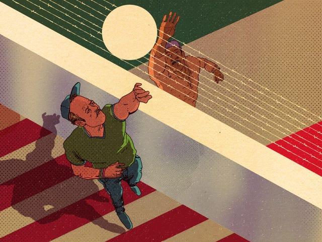 Esto es lo que pasa cuando un muro no divide: voleibol fronterizo