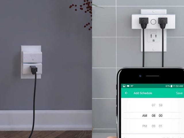 Score a Discount on Two Smart Plugs, Or One Smart Plug With Two Outlets