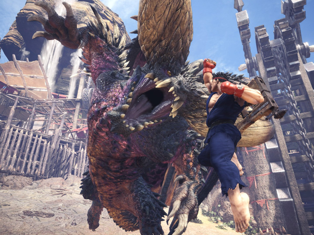 Monster Hunter: World's New Street Fighter Quest Is Tough