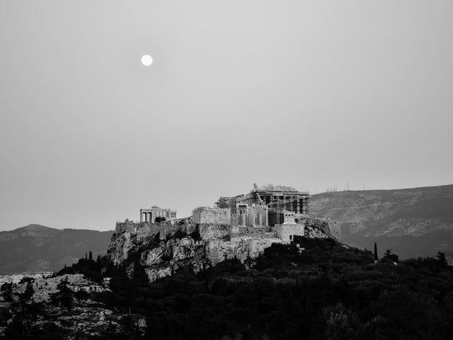 雅典卫城的景色