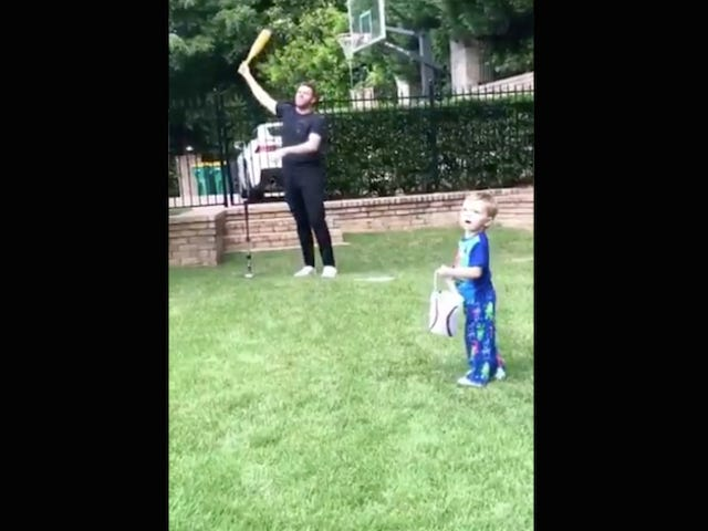 Freddie Freeman Crushes A Towering Tater Off His Own Child