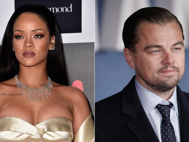 Rihanna e Leonard DiCaprio erano forse ma probabilmente non si stavano baciando a Parigi