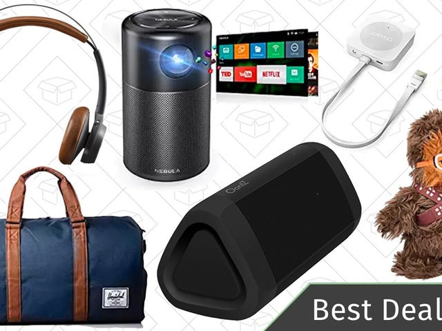 Friday's Best Deals: Star Wars Deals, Bluetooth Speakers, Duffel Bags, and More
