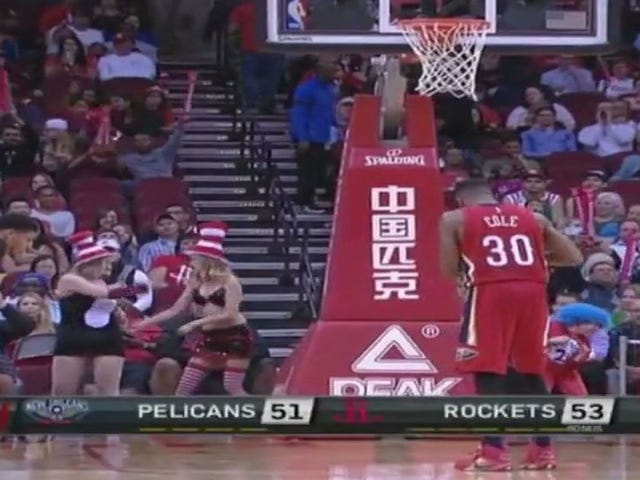 Some Top Notch Free Throw Distractors Worked The Rockets Game Tonight