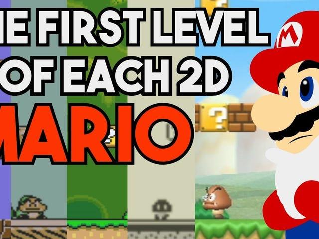 <i>Mario</i> jeux <i>Mario</i> ont des premiers niveaux étonnants