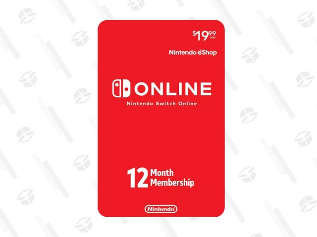 You Can Get an Entire Year of Nintendo Switch Online for a Low $15