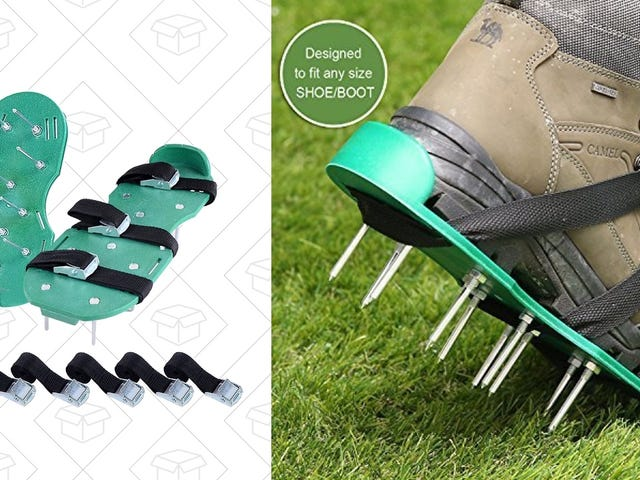 Aerate Your Lawn With These $13 Shoe Spikes
