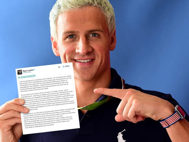 Ryan Lochte Issues a Formal Apology, Claims to Have 'Learned Some Valuable Lessons'