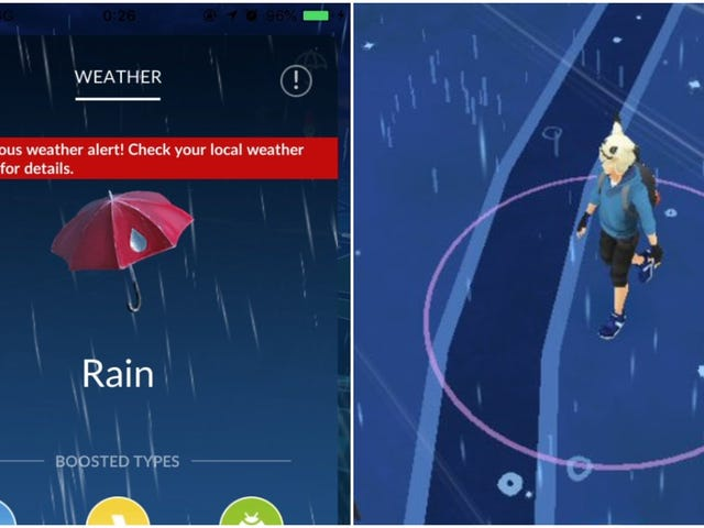 Pokémon Go Doesn't Want You Playing Outside During Typhoons
