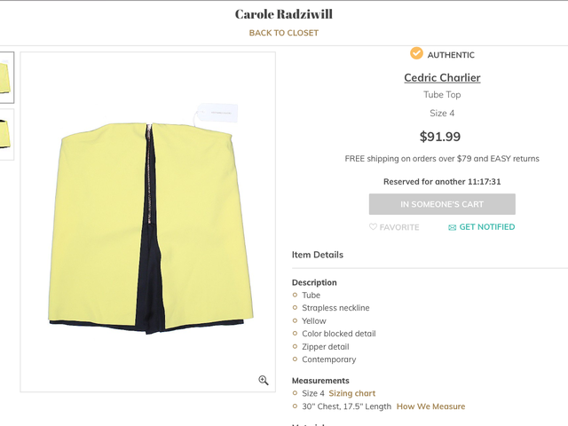 Haunted? Rat Die in It? Why Is Carole Radziwill Selling This Great Tube Top?