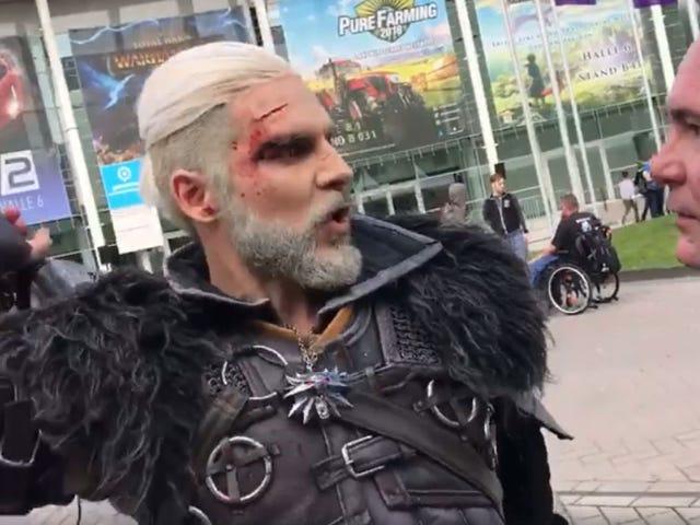 World's Best Geralt Cosplayer Meets Geralt's Voice Actor