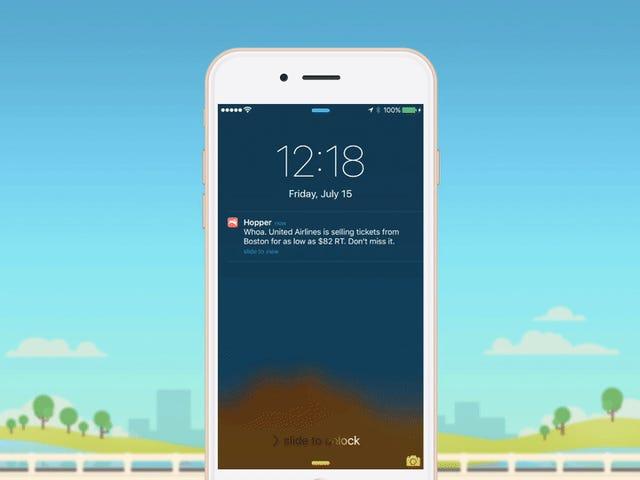 Hopper оновлення з персональними рекомендаціями про польотів