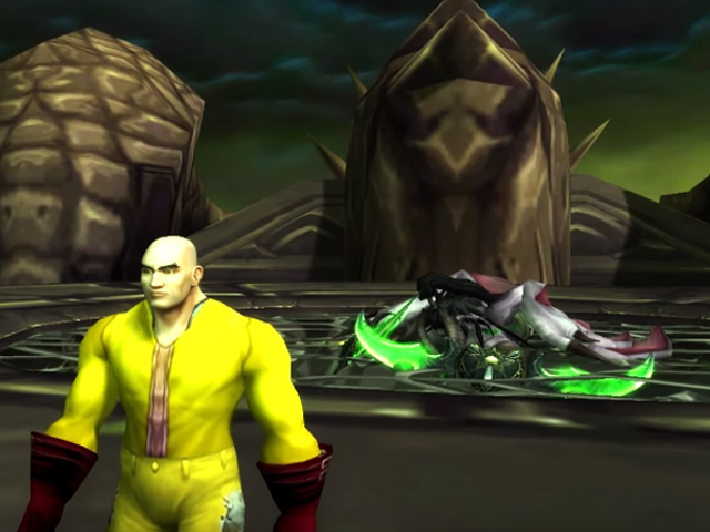 <i>One-Punch Man</i> ứng <i>World of Warcraft</i> ông chủ <i>World of Warcraft</i>