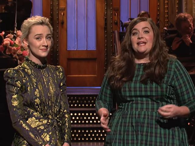 El encanto sin esfuerzo de Saoirse Ronan flota una buena noche de sábado en vivo