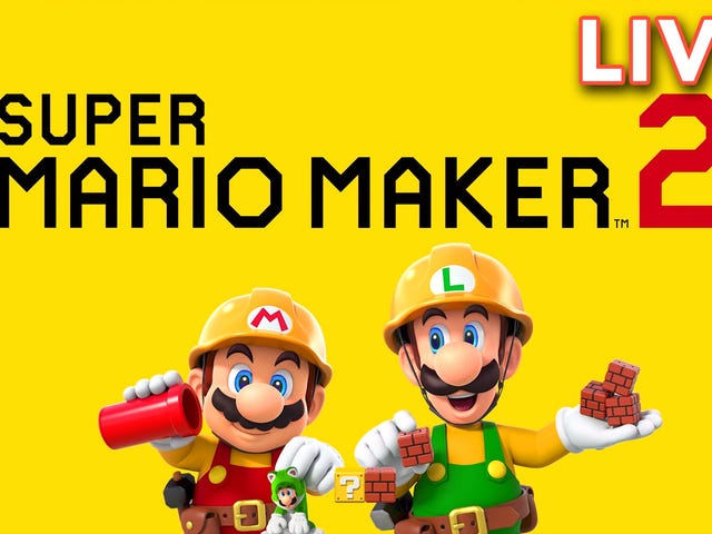 Super Mario Maker 2 time! Paul is streaming the game right now over on Twitch. Join us in chat as we