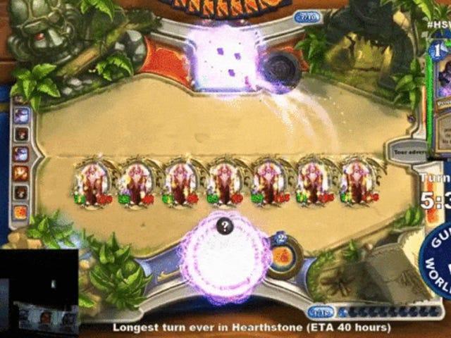 <i>Hearthstone</i> Player är sex timmar i försök vid längsta vändning någonsin