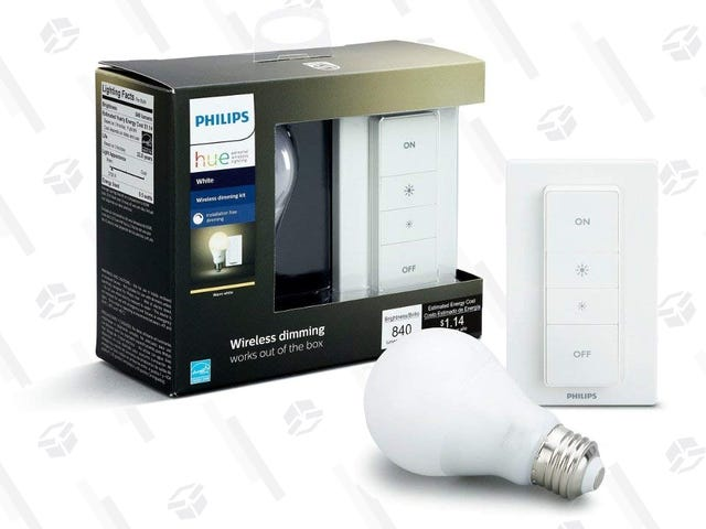 Add an Extra Bulb and Wireless Dimmer Switch to Your Hue Collection For $30