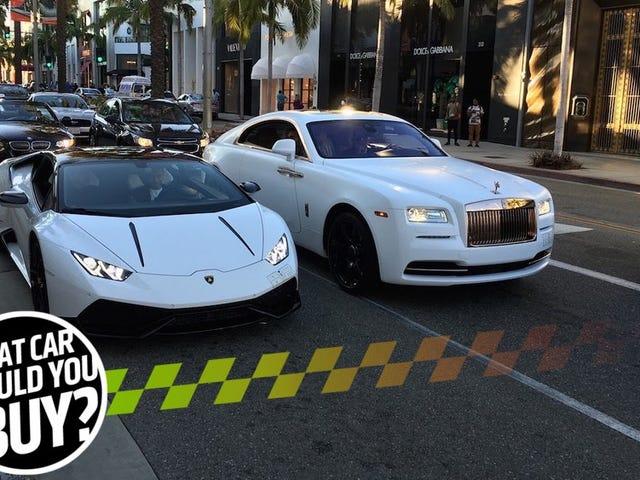 Ik heb een exotische auto nodig voor Beverly Hills die niet vermengt!  Wat zal ik kopen?