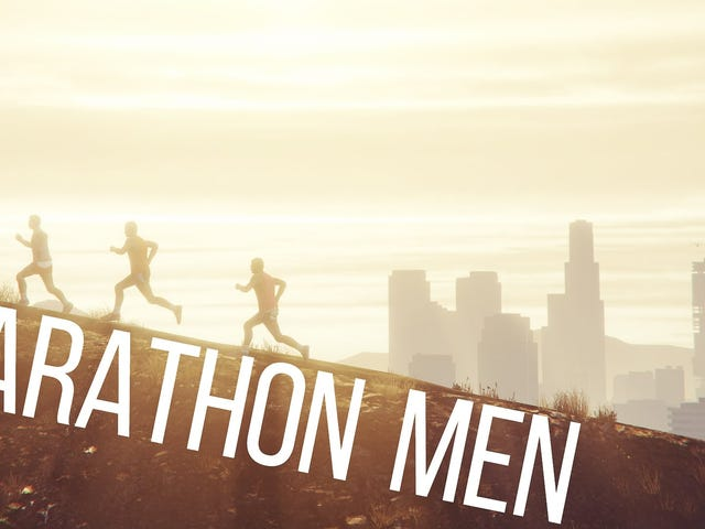 What happens when three friends decide to run an actual full-on marathon inside of GTA V?