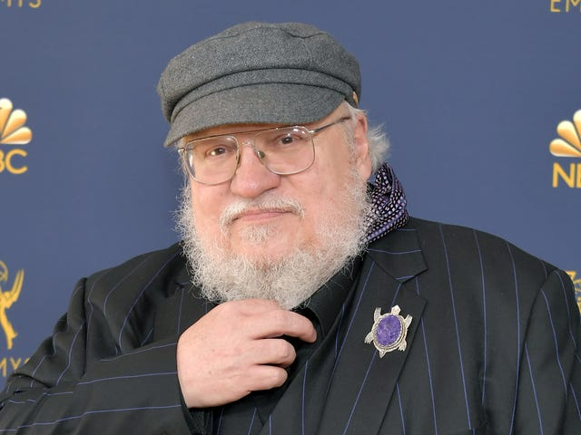 George R.R. Martin is happy to talk about hats, Big Bang Theory, really anything that's not his next goddamn book