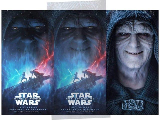 La cara de Palpatine en el póster de The Rise of Skywalker es literalmente una foto de un juguete