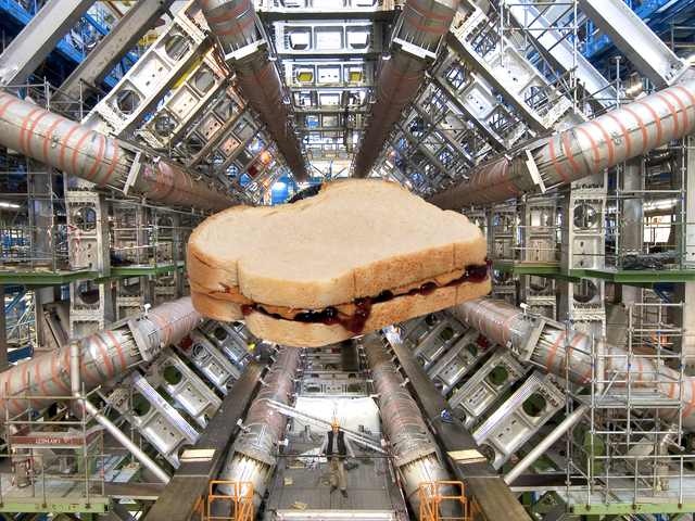 Could the Large Hadron Collider Collide a Sandwich?