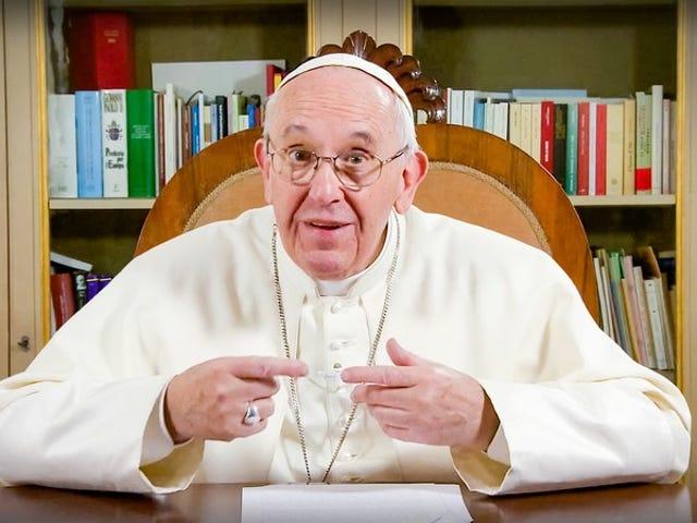 Pave Francis omfavner videnskab og bryder tabuer med en TED-tale
