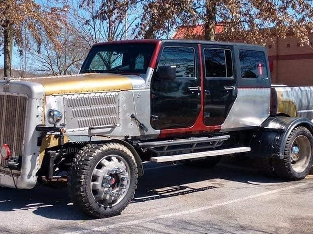 This Mysterious Big-Rig Pickup Is Made of Jeep and Mitsubishi Parts and It's Downright Scary
