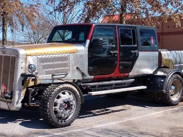 Denne Mystiske Big-Rig Pickup er laget av Jeep og Mitsubishi Deler, og det er rett og slett skummelt