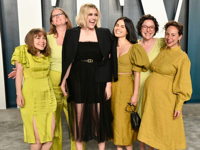 Greta Gerwig and Her Green-Clad Coven Stormed the Oscars Afterparties