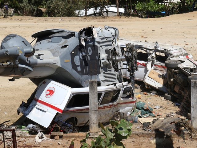 Helicopter Crashes Into Field Killing 13 People On The Ground
