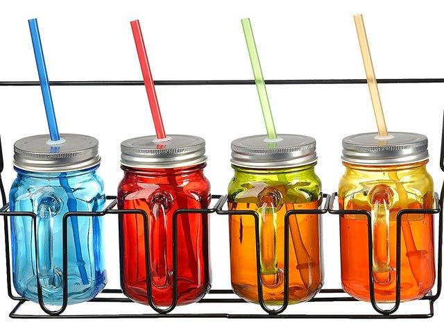 $10 Off Glass Mugs in Caddy Sets at Amazon