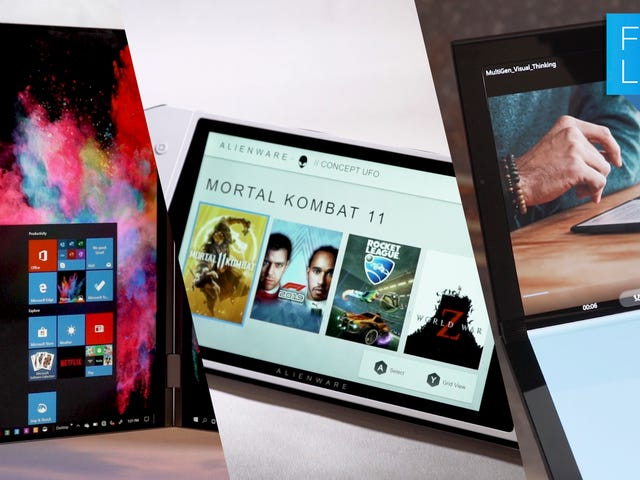 Un clon de conmutador de Windows y computadoras portátiles de doble pantalla son los próximos grandes conceptos de Dell