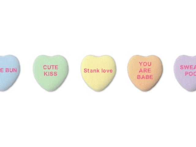 AI-Generated Candy Heart Messages Let Your 'Sweat Poo' Know It's 'Time 2 Wank'