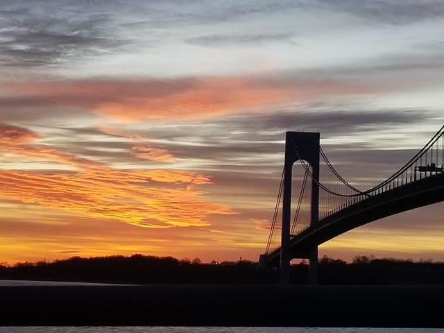 Verrazzano-Narrows Bridge from Brooklyn. New York