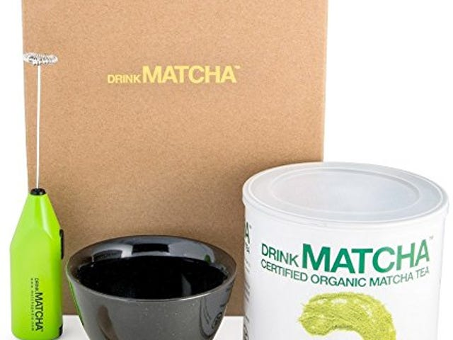25% OFF 16 oz Drink Matcha Organic Green Tea Powder Set Bundle with Ceramic Tea Bowl $24.83