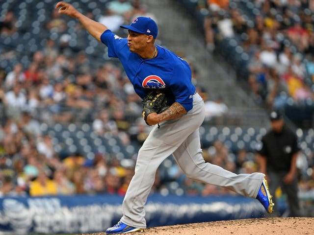 Outfielder Leonys Martin Makes Cubs Debut As Pitcher