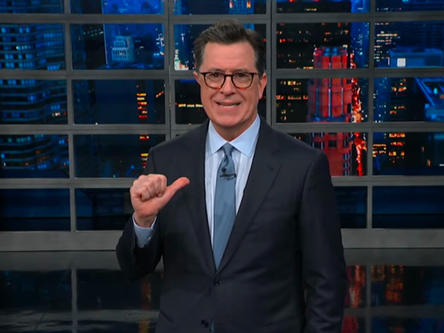 Stephen Colbert accuses Donald Trump of stealing his material