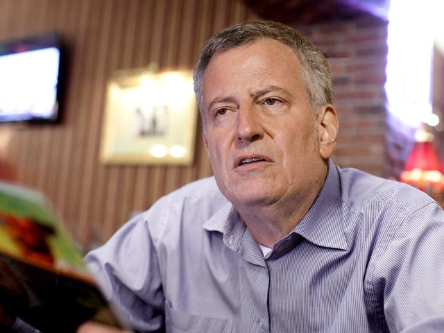 'That Place Is A Disaster,' Says Bill De Blasio Watching Flooded NYC Subway On TV During Iowa Campaign Stop