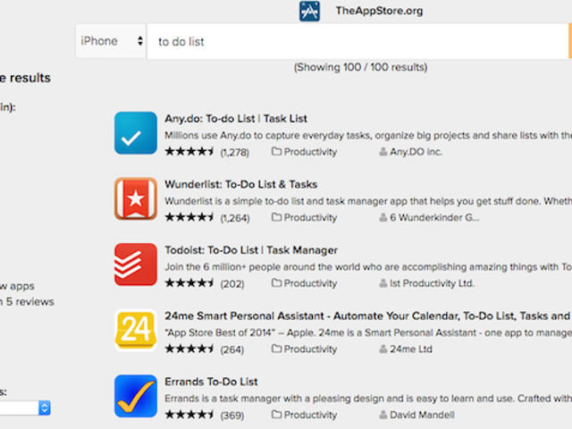 TheAppStore Searches iTunes and the Mac App Store with Age, Price, and Rating Filters