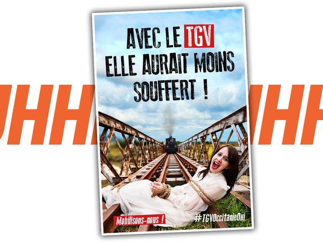 Ghoulish French Mayor Makes Posters About A Woman's Murder To Get High-Speed Rail To His City