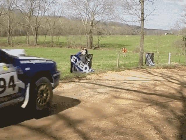 Rally Subaru Rally Jump Menjadi Sangat Salah