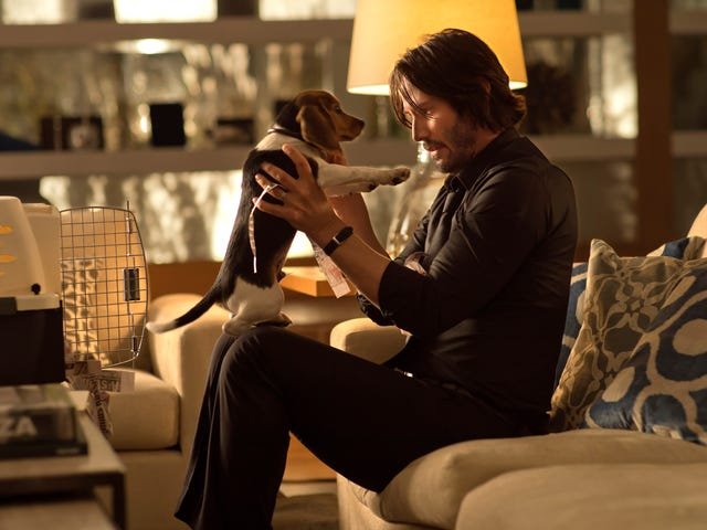 John Wick wants to wish us all a happy National Puppy Day, which is a little rich