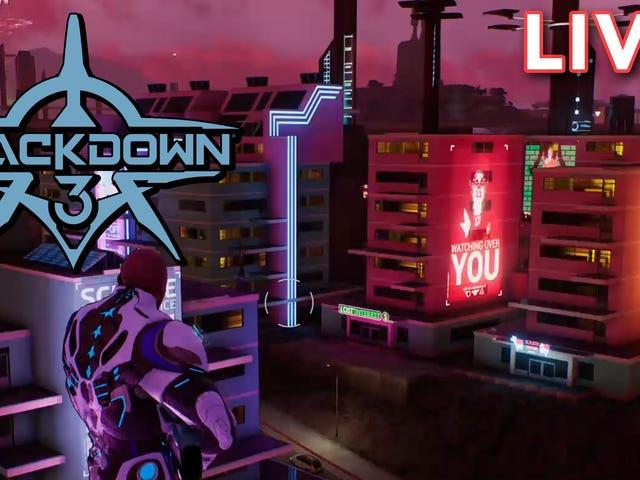 Kami mengalir Crackdown 3 dengan Terry Crews!  Tidak, uh, bukan lelaki sebenar.  Versi digital dia
