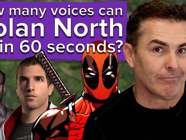 Aquí está Nolan North, que intenta un desafío de Eurogamer en el que hace tantas voces de videojuegos.