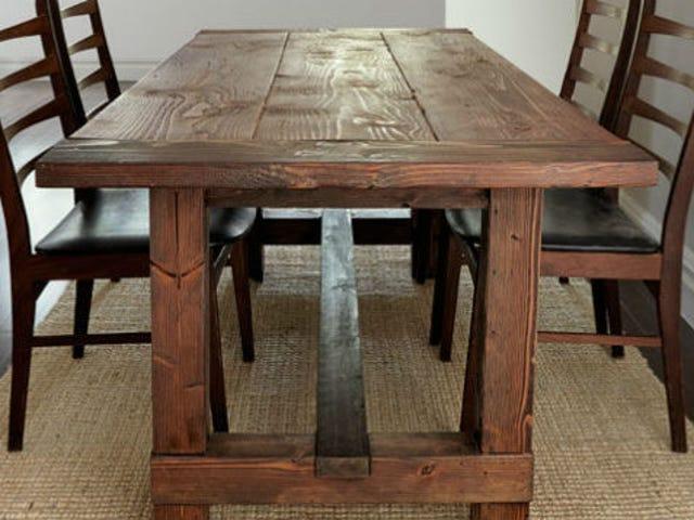 Byg en Farmhouse Dinner Table, der er svært at skrue op