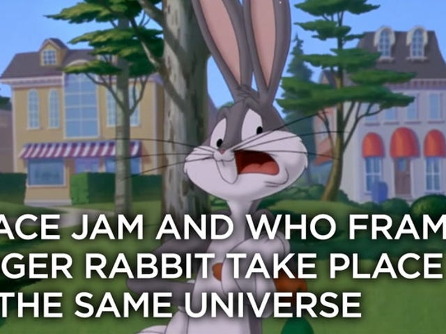 <i>Who Framed Roger Rabbit</i>和<i>Space Jam</i>必须共享同一个宇宙